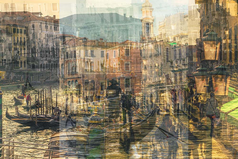 venezia gondola multiple exposure photography fine art
